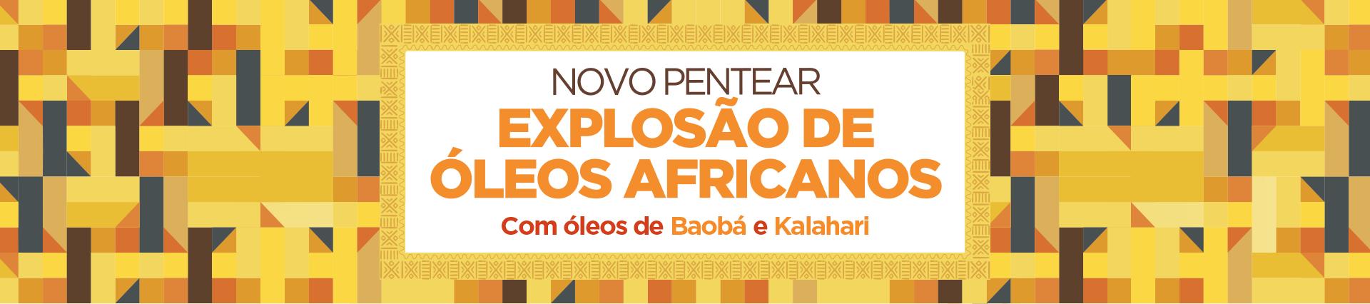 Novo pentear - EXPLOSÃO DE ÓLEOS AFRICANOS