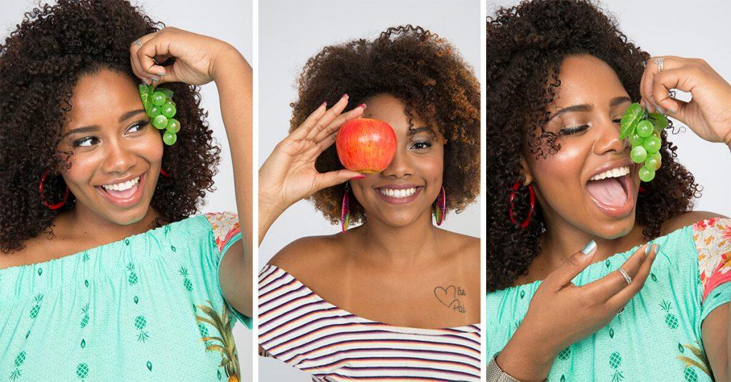 Alimentação equilibrada para a saúde dos cabelos crespos e cacheados.