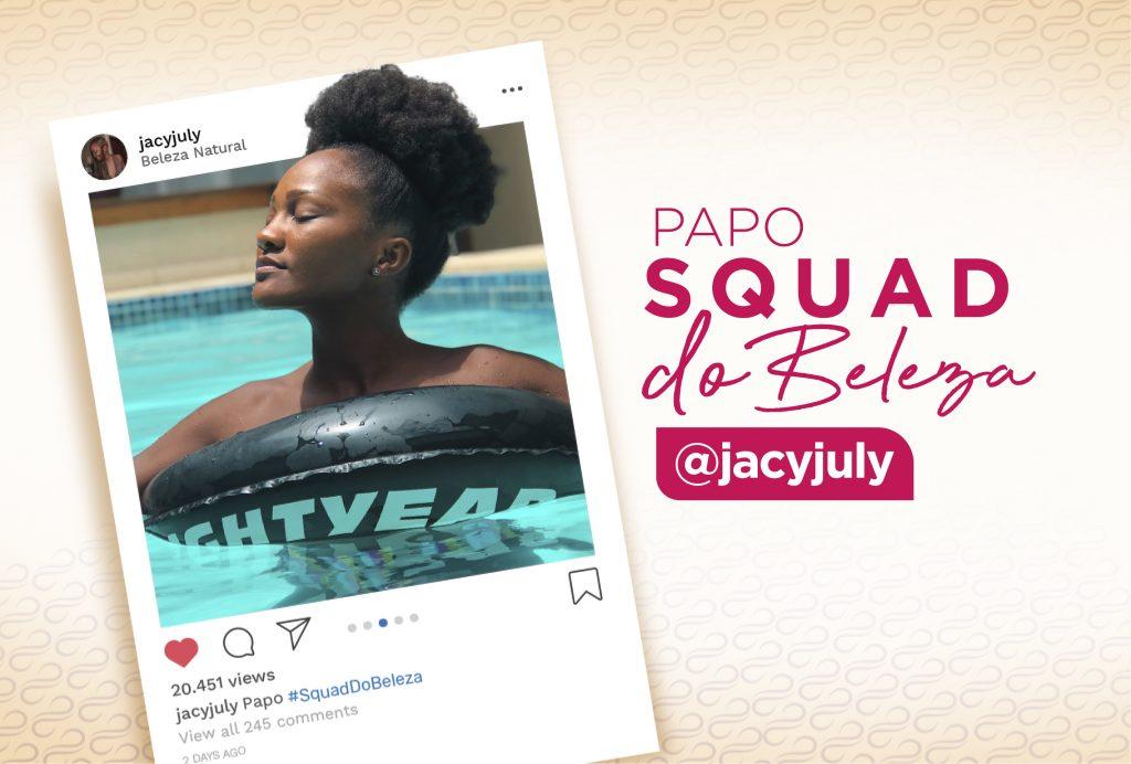 Jacu July conta como cuida do seu crespo na primavera/verão