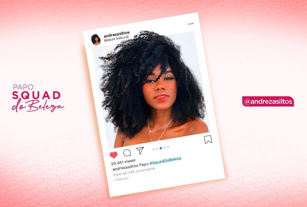 A blogueira Andreza Soltos com seu cabelão crespo conta as suas dicas para crescimento capilar.